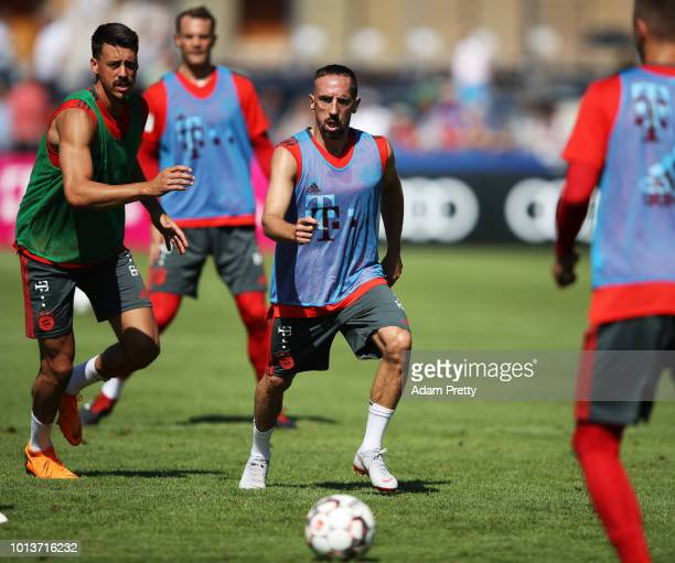 Franck Ribery of Bayern Munich in action during FC Bayern Muenchen pre season training on August 9, 2018 in Rottach-Egern, Germany.