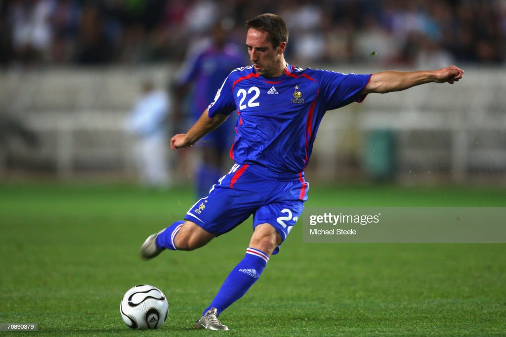 Franck Ribery of France during the Euro 2008 Group B qualifying match between France and Scotland at the Parc de Princes on September 12th,2007.