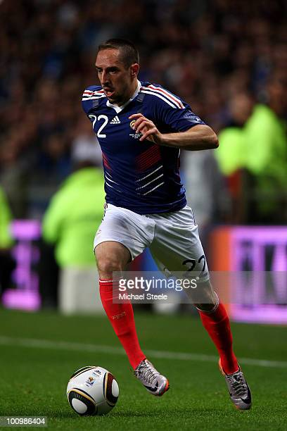 Franck Ribery of France during the France v Costa Rica International Friendly match at Stade Felix Bollaert on May 26, 2010 in Lens, France.