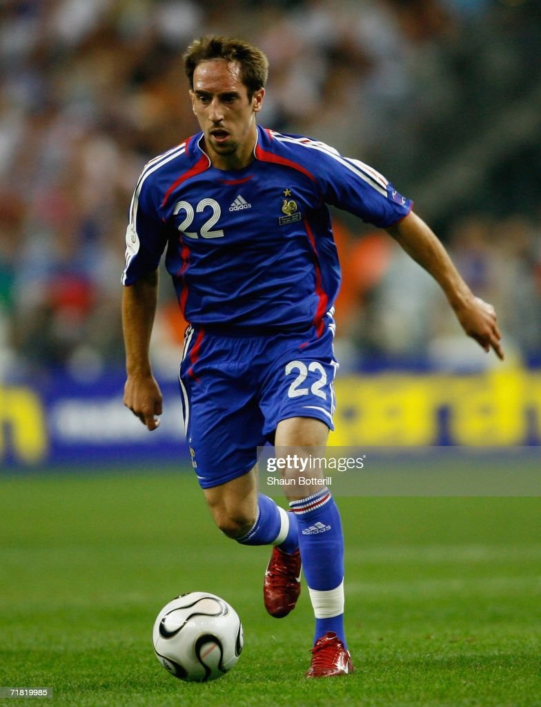 Franck Ribery of France in action during the Euro2008 Qualifing match between France and Italy at the Stade de France on September 6, 2006 in Paris, France.