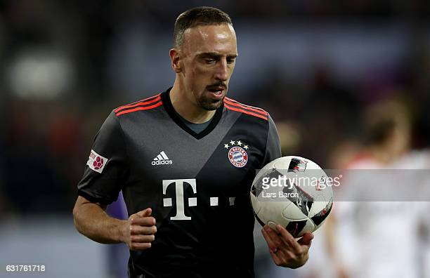 Franck Ribery of Muenchen runs with the ball during the Telekom Cup 2017 match between Fortuna Duesseldorf and Bayern Muenchen at EspritArena on...