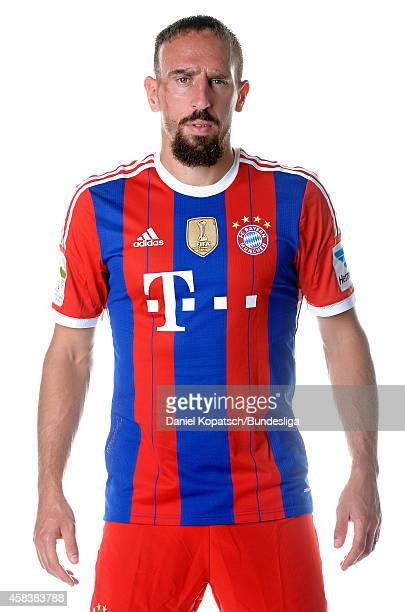 Franck Ribery poses during the FC Bayern Muenchen Team Presentation for DFL on August 9 2014 in Munich Germany