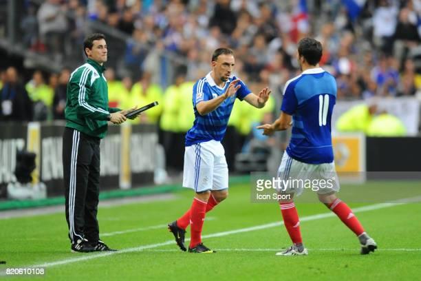 Franck RIBERY remplace Andre Pierre GIGNAC France / Roumanie Qualification Coupe du Monde 2010 Stade de France Paris