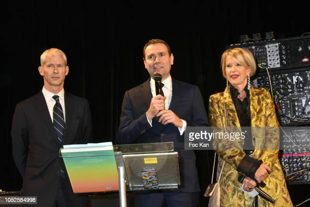 Franck Rister French Culture minister Alexandre Ricard chairman and CEO of Pernod Ricard and Director of the Ricard Foundation Colette Barbier attend...