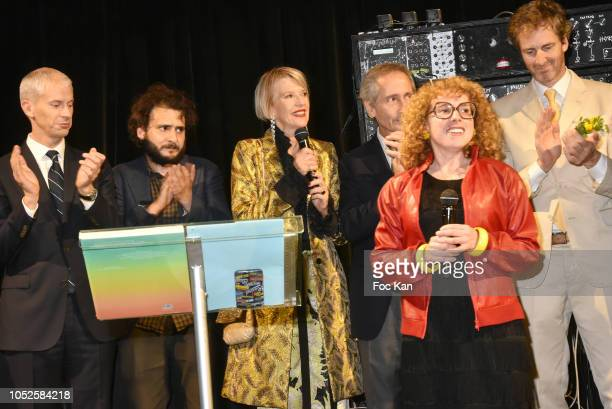 Franck Rister French Culture minister artist Neil Beloufa Director of the Ricard Foundation Colette Barbier Bernard Blistene owner of 'Beaux Arts...