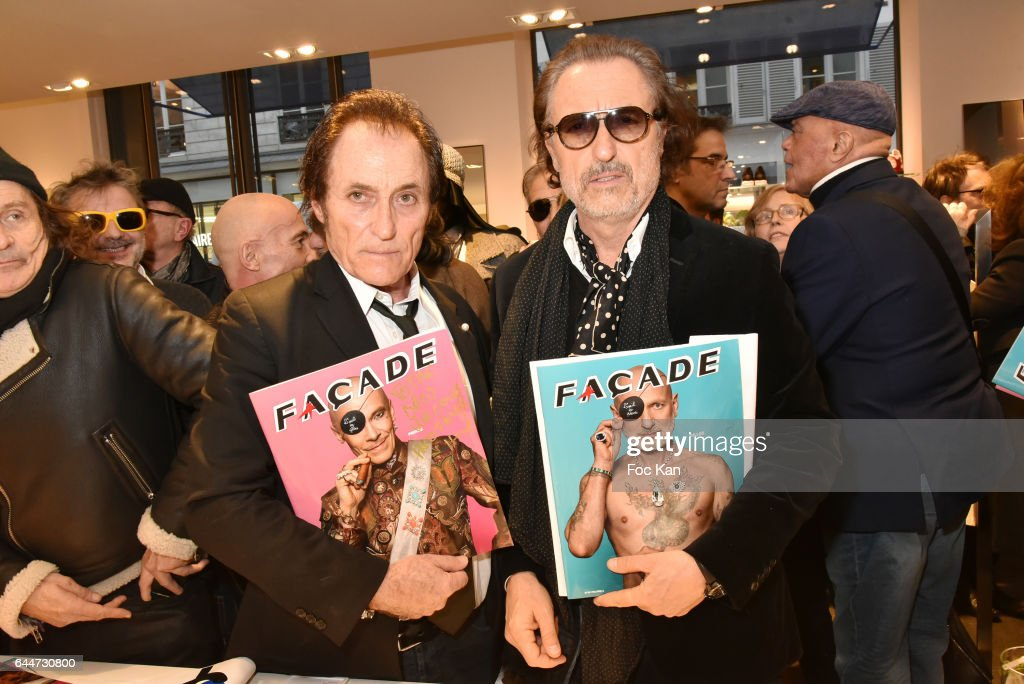 Franck Ros and Gil Ros attend 'Facade16' Magazine Issue Launch at Colette on February 23, 2017 in Paris, France.