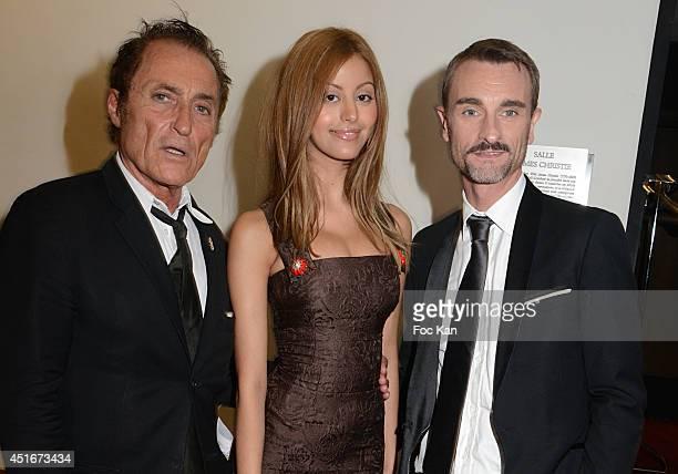 Franck Ros Zahia Dehar and Renaud Duval attend 'Les CÏurs des Createurs' Auction Cocktail in profit of 'La Chaine de L'Espoir' Association at...