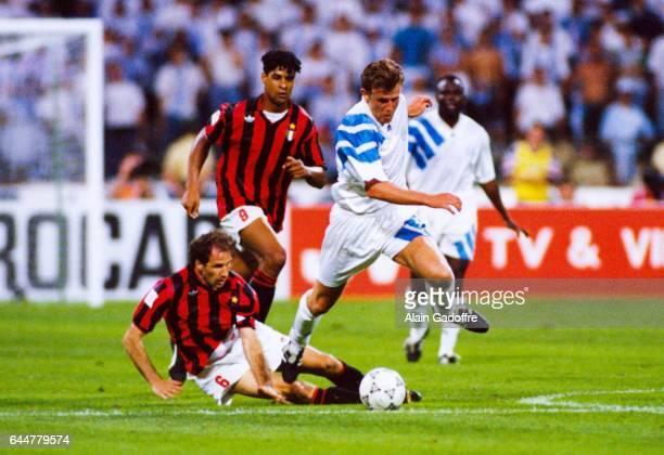 Franck Sauzee / Frank Rijkaard / Franco Baresi Marseille / Milan AC Finale de la Ligue des Champions Munich Photo Alain Gadoffre / Icon Sport