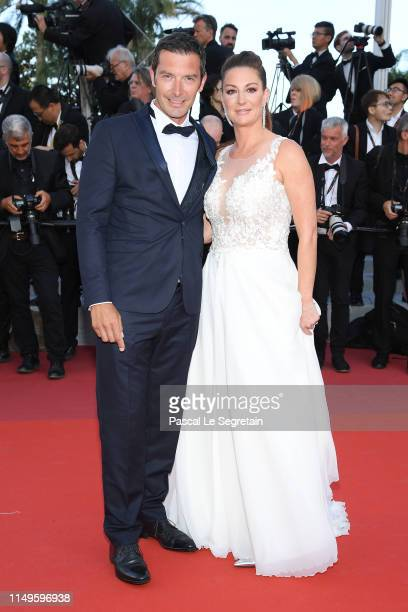 Franck Semonin and guest attend the screening of Rocketman during the 72nd annual Cannes Film Festival on May 16 2019 in Cannes France