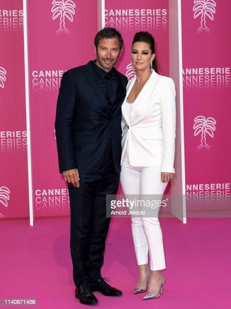 Franck Semonin and Helene Semonin attend the 2nd Canneseries International Series Festival Opening Ceremony on April 05 2019 in Cannes France