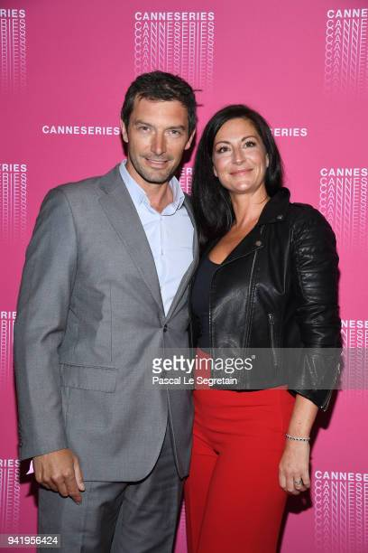 Franck Semonin and his wife Helene attend the Opening Ceremony and Versailles Season 3 screening during the 1st Cannes International Series Festival...