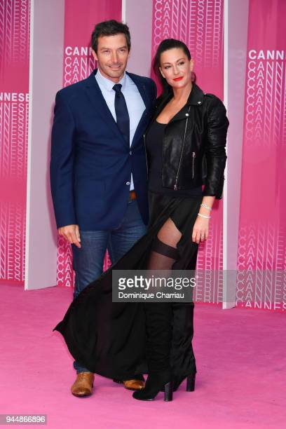 Franck Semonin and his wife Helene attends Closing Ceremony and Safe screening during the 1st Cannes International Series Festival at Palais des...
