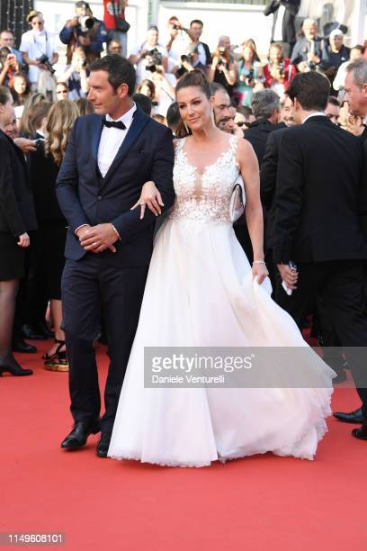 Franck Semonin and his wife Helene Sémonin attend the screening of Rocketman during the 72nd annual Cannes Film Festival on May 16 2019 in Cannes...