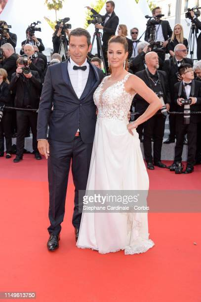 Franck Semonin and his wife Helene Sémonin attends the screening of Rocketman during the 72nd annual Cannes Film Festival on May 16 2019 in Cannes...