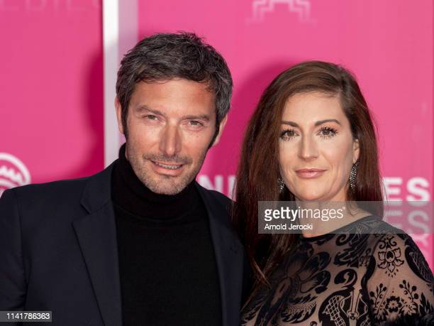 Franck Semonin and wife Helene Semonin attends the 2nd Canneseries International Series Festival Closing Ceremony on April 10 2019 in Cannes France