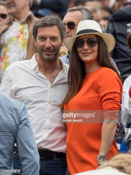 Franck Semonin and wife Hélène Semonin attends the Rolex MonteCarlo Masters at MonteCarlo Country Club on April 21 2019 in MonteCarlo Monaco
