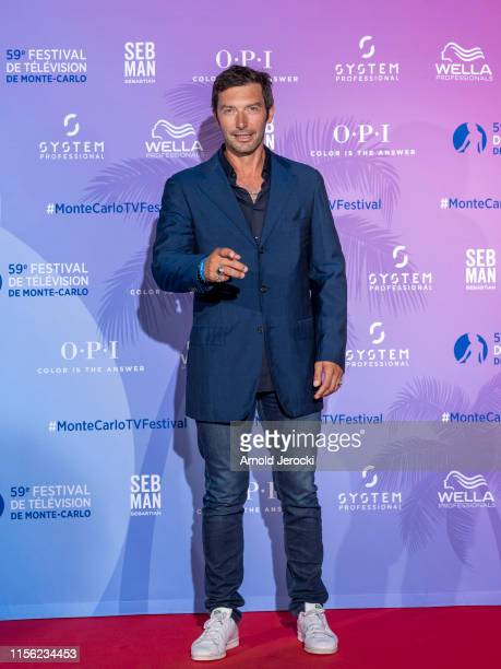 Franck Semonin arrives at the 59th Monte Carlo TV Festival TV Series Party on June 15 2019 in MonteCarlo Monaco