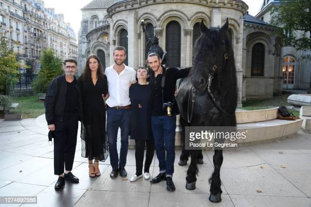 "Franck Sorbier, Jeade Pasquier, Alexandre Risso, Isabelle Tartière and Almaury Voslion attend ""Il Medico Della Peste"" Franck Sorbier Haute Couture..."