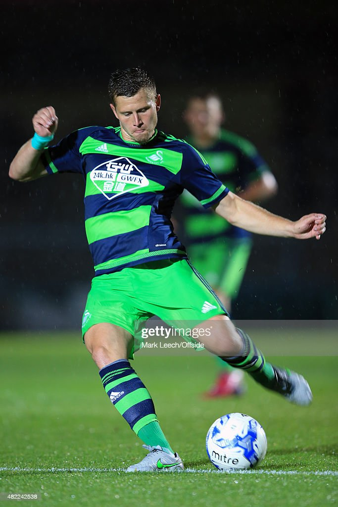 Franck Tabanou of Swansea City during the Pre Season Friendly match between Reading and Swansea City at Adams Park on July 24, 2015 in High Wycombe, England.
