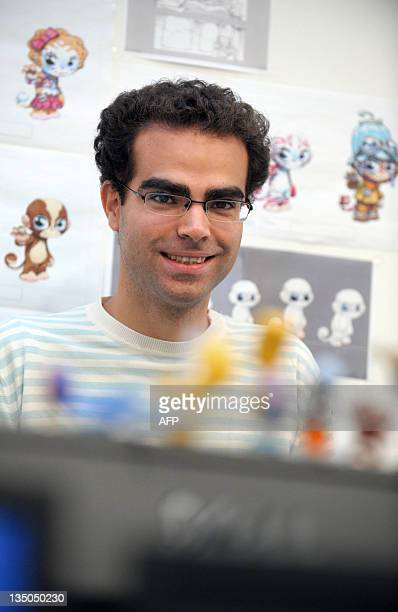 Franck Tetzlaff, co-founder and CEO of Kobojo, poses in the company's offices in Paris on December 2, 2011. Created in 2008, Kobojo is a French...