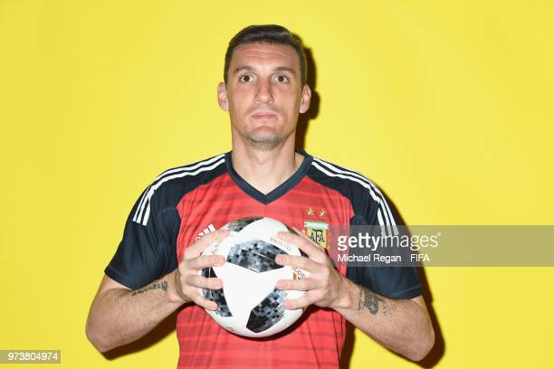 Franco Armani during the official FIFA World Cup 2018 portrait session at on June 12 2018 in Moscow Russia