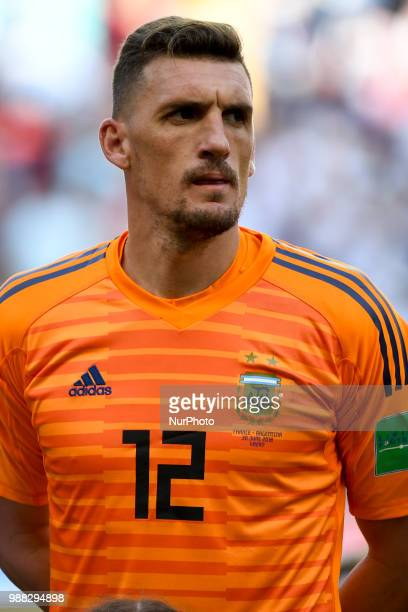 Franco Armani of Argentina during the 2018 FIFA World Cup Round of 16 match between France and Argentina at Kazan Arena in Kazan Russia on June 30...