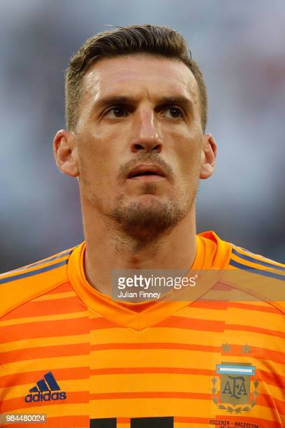 Franco Armani of Argentina lines up prior to the 2018 FIFA World Cup Russia group D match between Nigeria and Argentina at Saint Petersburg Stadium...