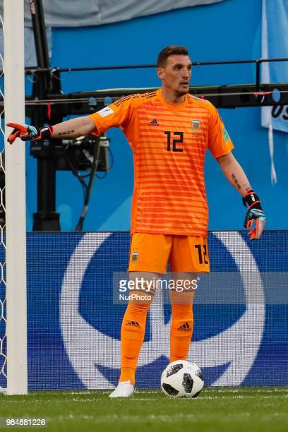 Franco Armani of Argentina national team during the 2018 FIFA World Cup Russia group D match between Nigeria and Argentina on June 26 2018 at Saint...