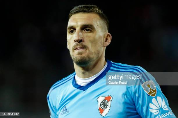 Franco Armani of River Plate looks on during a match between River Plate and Flamengo as part of Copa CONMEBOL Libertadores 2018 on May 23 2018 at...