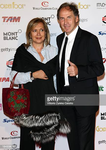 Franco Baresi and his wife attend the Golden Foot Award 2012 ceremony at MonteCarlo Sporting Club on October 17 2012 in MonteCarlo Monaco