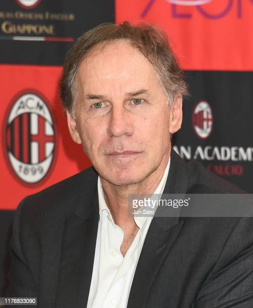 Franco Baresi attends the AC Milan Official Fan-club Japan Launch Meeting on October 19, 2019 in Tokyo, Japan.
