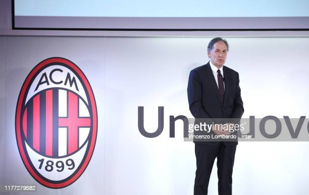 Franco Baresi attends the 'Uno Stadio Per Milano' Conference on September 26, 2019 in Milan, Italy.