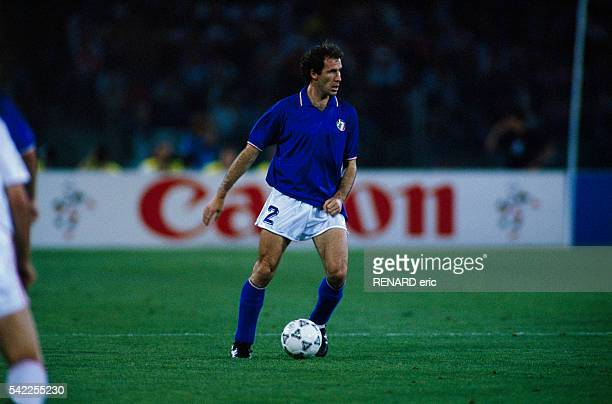 Franco Baresi from Italy during a first round match of the 1990 FIFA World Cup against Czechoslovakia