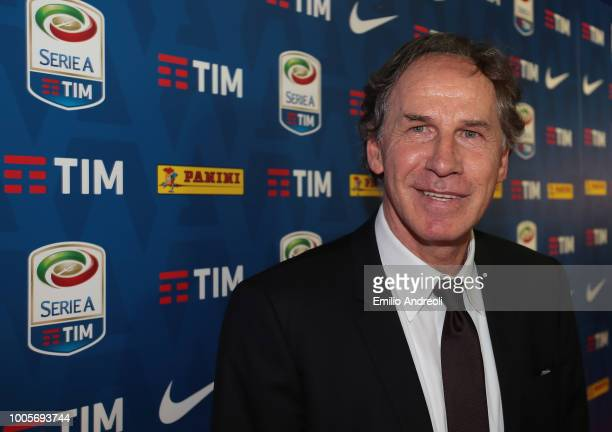 Franco Baresi of AC Milan attends the Serie A 2018/19 Fixture unveiling on July 26, 2018 in Milan, Italy.