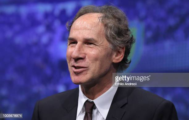 Franco Baresi of AC Milan looks on during the Serie A 2018/19 Fixture unveiling on July 26 2018 in Milan Italy