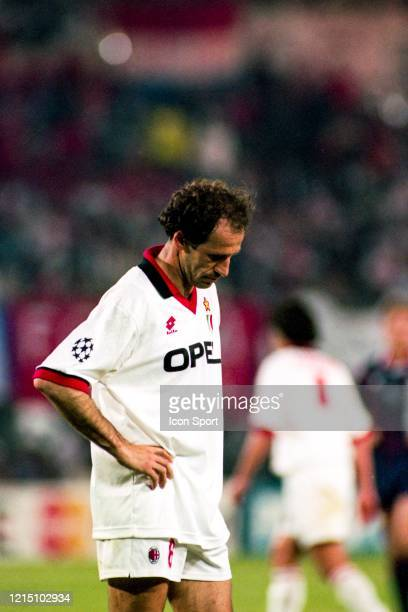 Franco BARESI of Milan AC looks dejected during the Champions League Final match between Ajax Amsterdam and Milan AC at ErnstHappelStadion Vienna...
