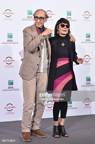 Franco Battiato and Elisabetta Sgarbi attend the 'Due Volte Delta' Photocall during the 9th Rome Film Festival on October 23 2014 in Rome Italy