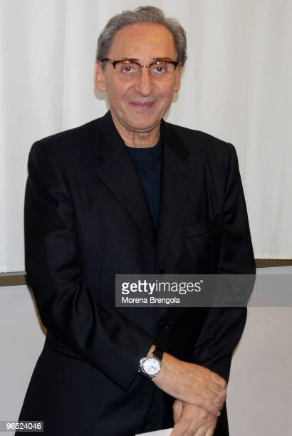 Franco Battiato poses for a portrait at Teatro dal Verme on July 02 2007 in Milan Italy