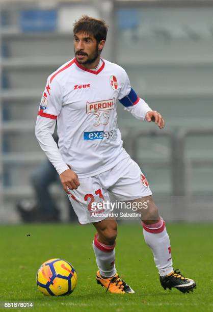 Franco Brienza of Bari in action during the TIM Cup match between US Sassuolo and Bari on November 29 2017 in Reggio nell'Emilia Italy