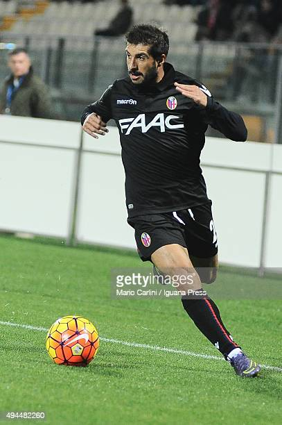 Franco Brienza of Bologna FC in action during the Serie A match between Carpi FC and Bologna FC at Alberto Braglia Stadium on October 24 2015 in...