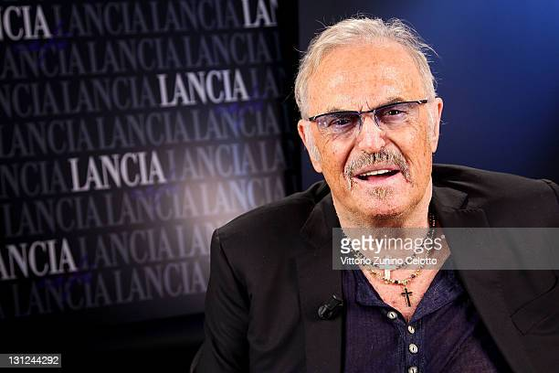 Franco Califano attends the 6th Rome Film Festival at Lancia Cafe on November 3 2011 in Rome Italy