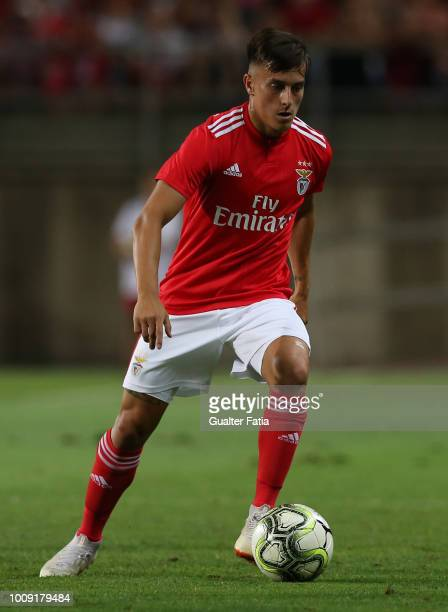 Franco Cervi from SL Benfica in action during the International Champions Cup match between SL Benfica and Lyon at Estadio Algarve on August 1 2018...