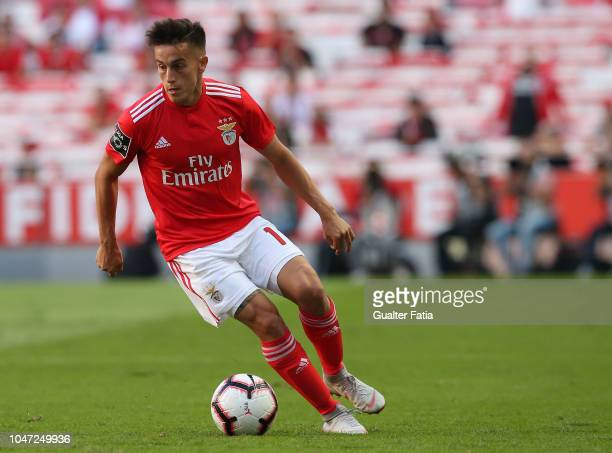 Franco Cervi of SL Benfica in action during the Liga NOS match between SL Benfica and FC Porto at Estadio da Luz on October 7 2018 in Lisbon Portugal