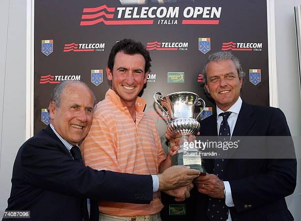 Franco Chimenti President of The Italian Golf Federation Gonzalo Fernandez Castano of Spain and Carlo Corti Galleazzi Managing Director of Telecom...