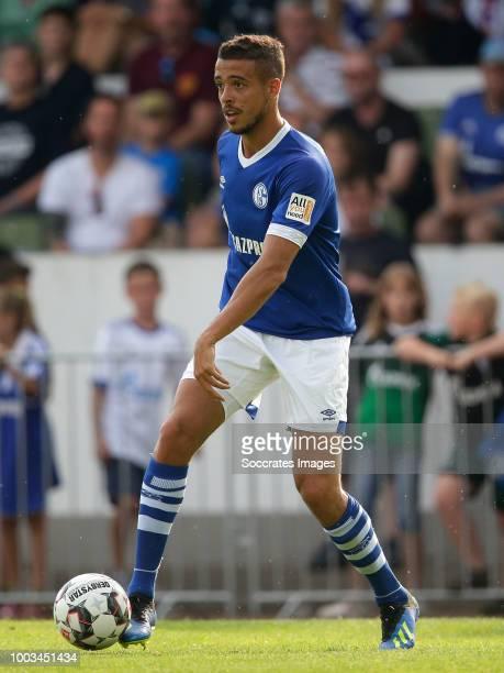 Franco Di Santo of Schalke 04 during the Club Friendly match between Schalke 04 v Schwarz Weiss Essen at the Uhlenkrugstadion on July 21 2018 in...