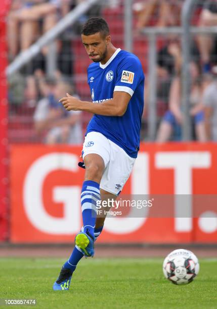 Franco di Santo of Schalke controls the ball during the Friendly match between Schwarz Weiss Essen and FC Schalke 04 on July 21 2018 in Essen Germany
