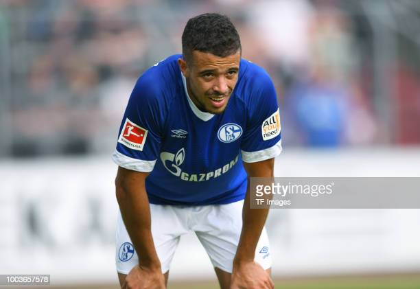 Franco di Santo of Schalke looks on during the Friendly match between Schwarz Weiss Essen and FC Schalke 04 on July 21 2018 in Essen Germany