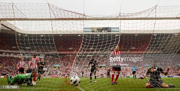 Franco Di Santo of Wigan scores their second goal during the Barclays Premier League match between Sunderland and Wigan Athletic at Stadium of Light...