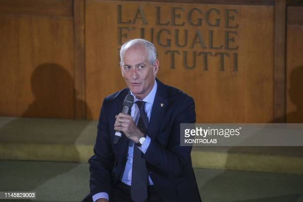 Franco Gabrielli, Chief of Police, during the demonstration commemorating the massacres of mafia in which the judges Giovanni Falcone and Paolo...