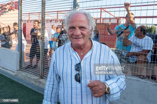 Franco Gattuso father of Rino Gattuso during the inauguration of the Milan Academy technical center in Corigliano Calabro in Calabria southern Italy...